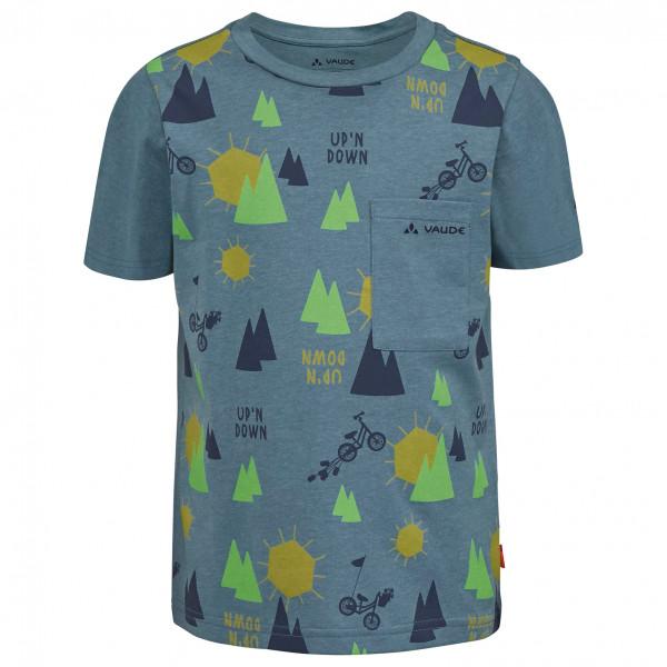 VAUDE - Kid's Tammar AOP T-Shirt - blau/grau