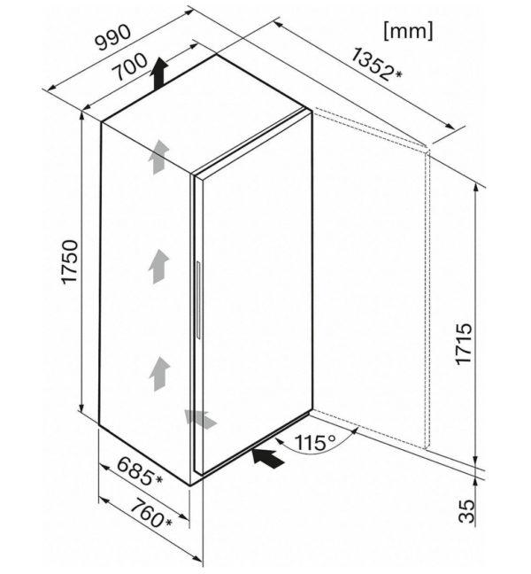 Miele Gefrierschrank FN 24263 Maße