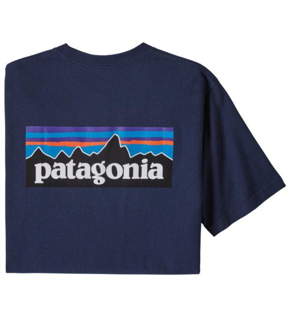 Patagonia P6 Logo Pocket Responsibili Tee T-Shirt dunkelblau
