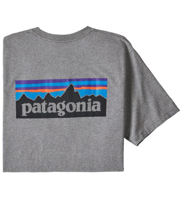 Patagonia P6 Logo Pocket Responsibili Tee T-Shirt grau