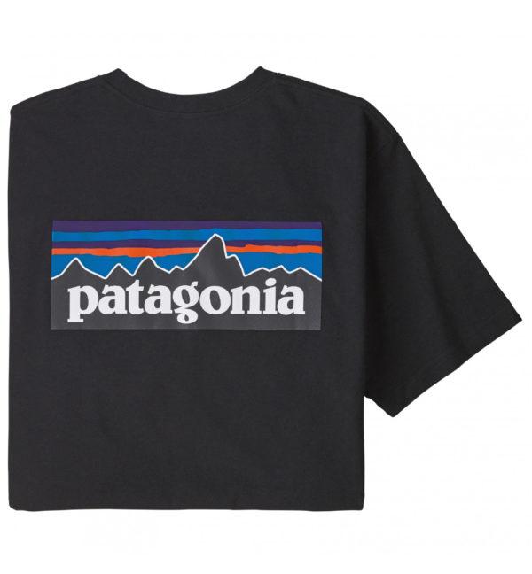 Patagonia P6 Logo Pocket Responsibili Tee T-Shirt schwarz