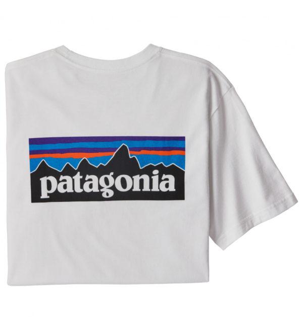 Patagonia P6 Logo Pocket Responsibili Tee T-Shirt weiß