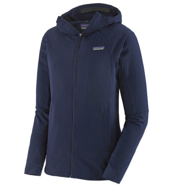 Patagonia Womens R1 Techface Hoody Softshelljacke blau