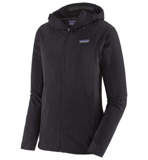 Patagonia Womens R1 Techface Hoody Softshelljacke schwarz