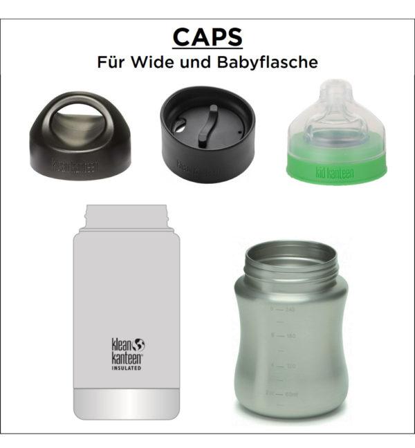 Klean Kanteen Wide Vacuum Insulated 592ml mit Cafe Cap Caps