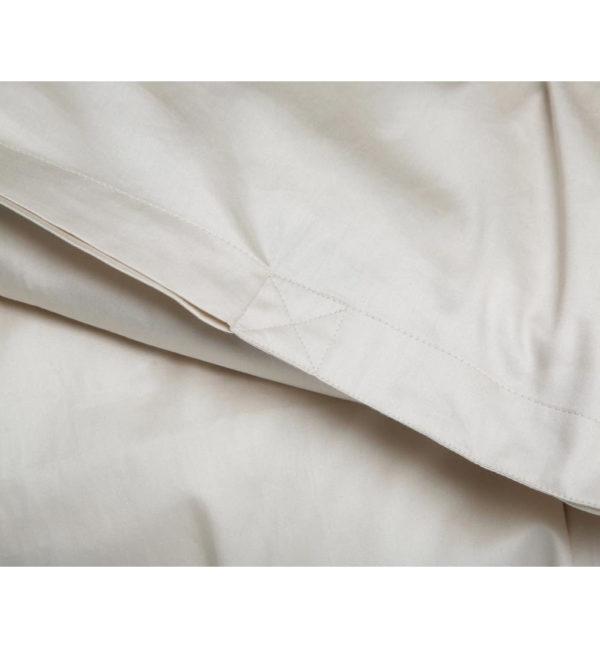 yumeko Bettwäscheset Baumwollsatin warm white