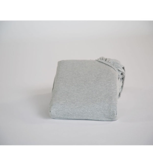 yumeko Spannbettlaken Jersey white grey